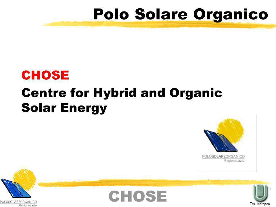 """Polo Solare Organico (CHOSE) dell'Università degli Studi di Roma """"Tor Vergata"""""""