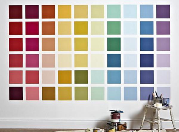 colori per pitturare una parete
