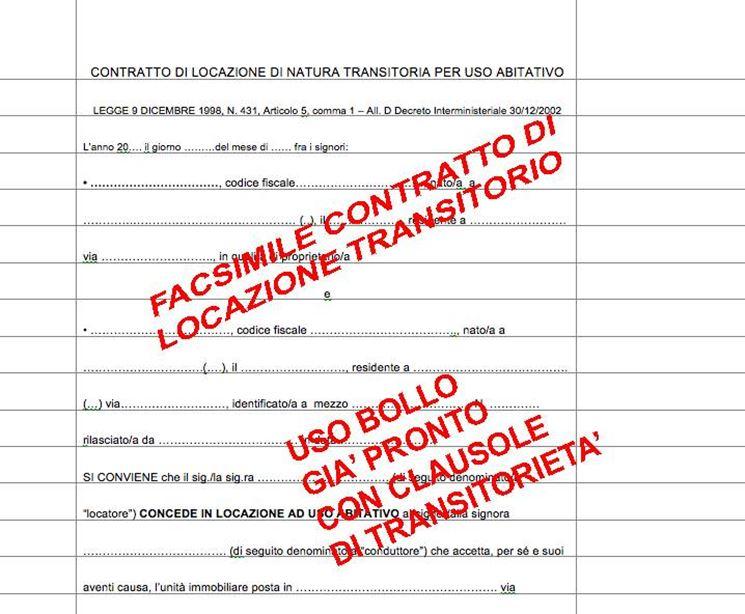 contratto di affitto transitorio