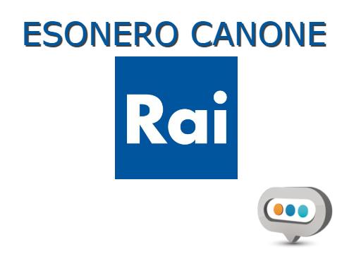 esonero canone Rai 2018