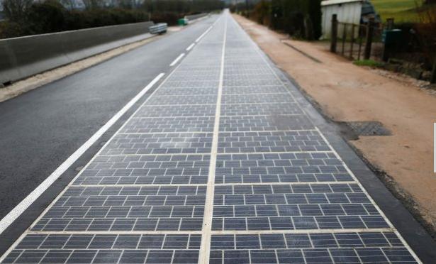 fotovoltaico su strada in francia