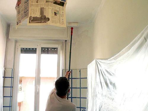imbiancare il soffitto