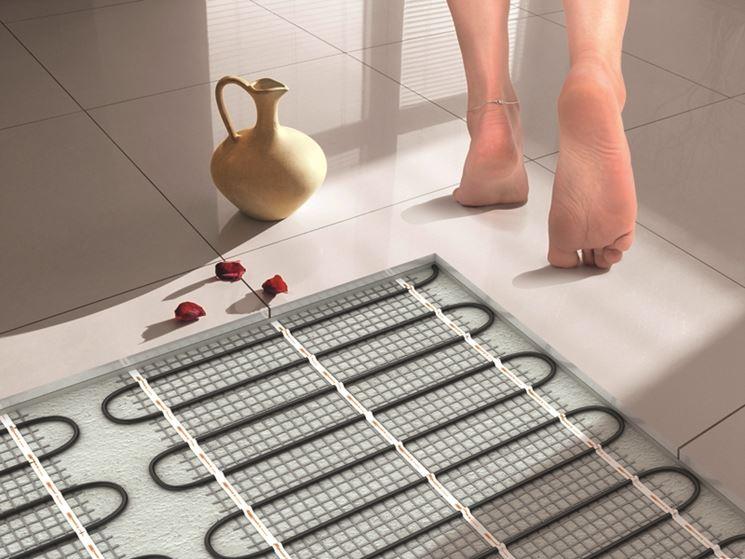 impianto di riscaldamento a pavimento ad acqua
