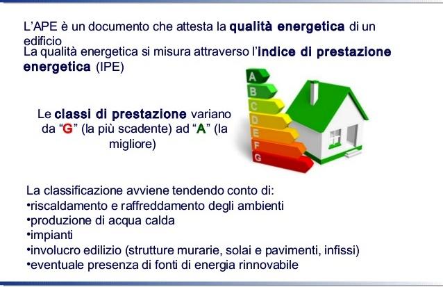 ipe indice di prestazione energetica