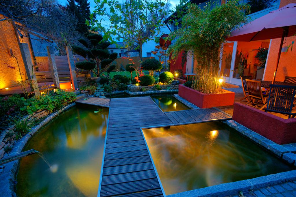 luci giardino in terrazza