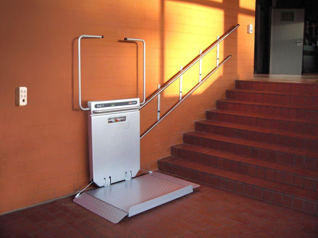 montascale per disabili - piattaforma