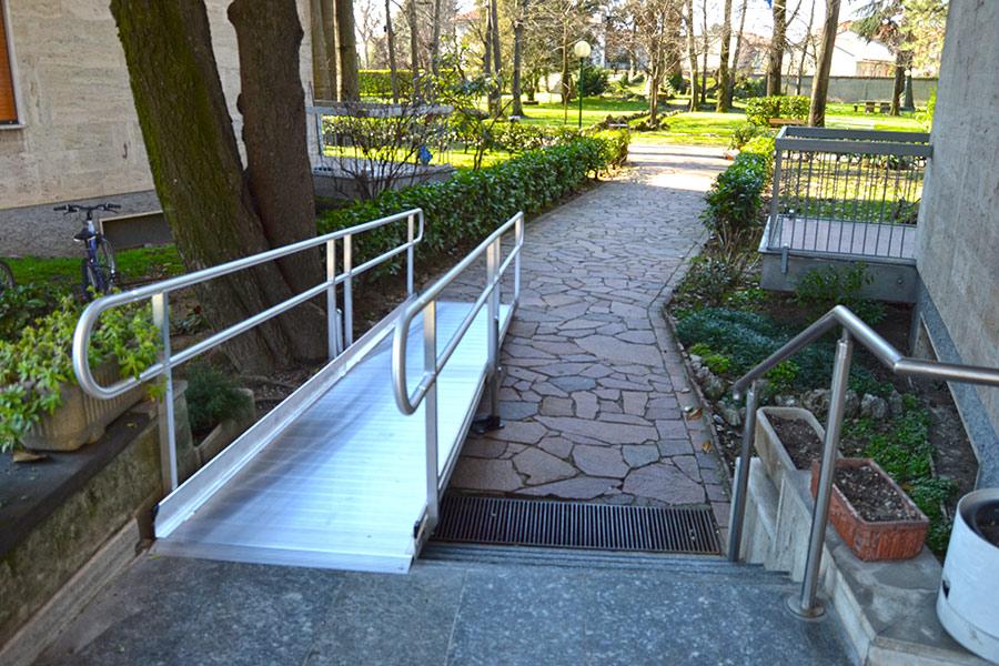 rampe per disabili in alluminio