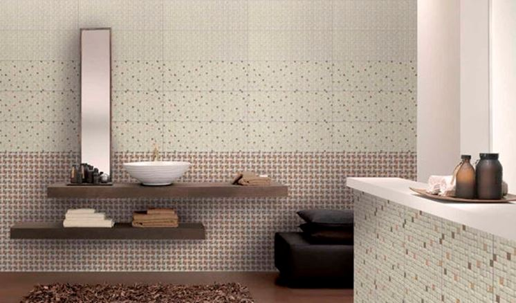 Rivestimento bagno consigli su come sceglierlo - Piastrelle bagno effetto mosaico ...