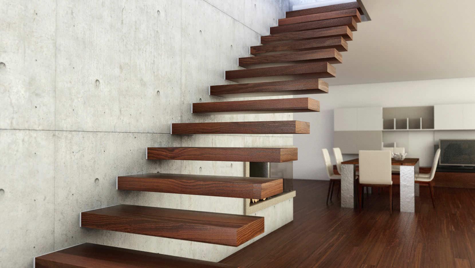 Scala autoportante la scelta tr legno o ferro - Escalera de madera de pintor ...