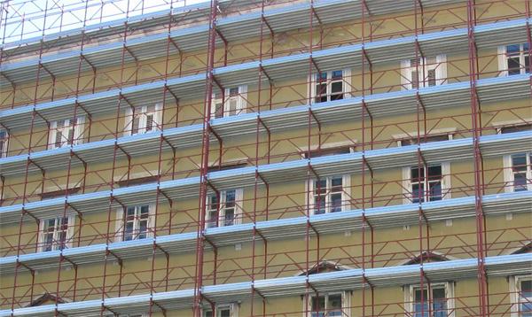 tinteggiatura per il rifacimento facciata