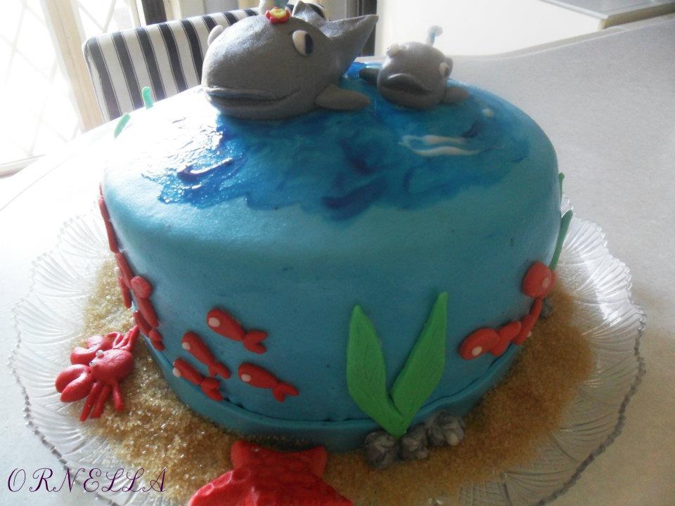 torte decorate tema paesaggio marino